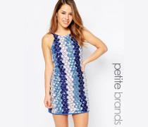 Blaues Trägerkleid mit Pailletten Blau