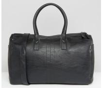 Reisetasche aus schwarzem Kunstleder Schwarz