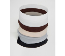 Elastische Armbänder im Set Mehrfarbig