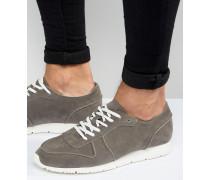 Retro-Sneaker in grauer Wildlederoptik Grau