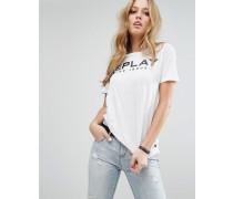 Logo-T-Shirt Weiß