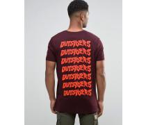 Langes T-Shirt in legerer Skater-Passform mit Outsiders-Print hinten Rot