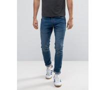 Enge Jeans mit Stretchanteil Schwarz