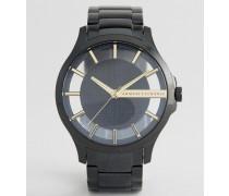 AX2192 Edelstahl-Armbanduhr in Schwarz Schwarz