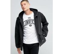 Schwarze Jacke mit Kapuze, 10001185-A03 Schwarz