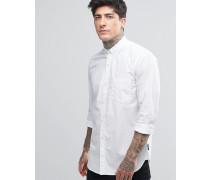 Hemd mit Punkten Weiß