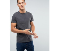 Anthrazitgraues T-Shirt in klassischer, regulärer Passform Grau