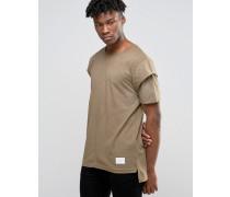 T-Shirt mit Arm im Lagenlook Grün