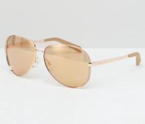 Chelsea Pilotensonnenbrille in Roségold Gold