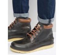 Stiefel aus schwarzem Leder Schwarz