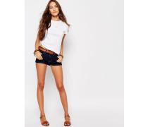 Kyrewood Jeans-Shorts mit hohem Bund Blau