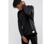 Sweatshirt mit Ärmeln im Lagenlook Schwarz
