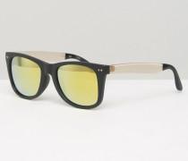 Windward Eckige Sonnenbrille Schwarz