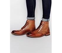 Sealls Stiefel im Budapester Stil Braun