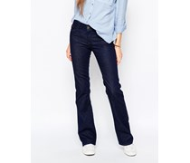 Sandy Mittelhohe Bootcut-Jeans Blau