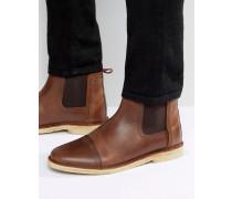 Chelsea-Stiefel aus braunem Leder Braun