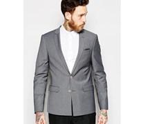 Wedding Enge Anzugjacke in Tonic Grau