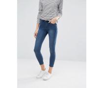Fernham Sehr enge, gekürzte Skinny-Jeans mit mittelhohem Bund Blau