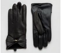 Große Lederhandschuhe Schwarz