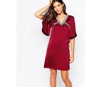 Kimono-Kleid Rot