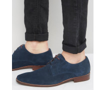 Richmonds Derby-Schuhe aus Wildleder Marineblau
