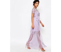 Boutique Verziertes Maxikleid Violett