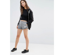 Lässige Sweat-Shorts mit Logo Grau