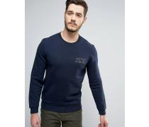Hatton Sweatshirt mit Logo in Marine Marineblau
