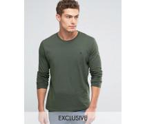 Exklusives T-Shirt mit langen Ärmeln und Logo in Pinie Grün