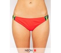Hüfthohe Bikinihose mit buntem Grafikdruck Mehrfarbig