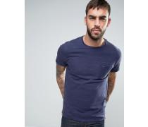 Gestreiftes T-Shirt Marineblau