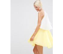 Abgestuftes Minikleid in Blockfarben Mehrfarbig