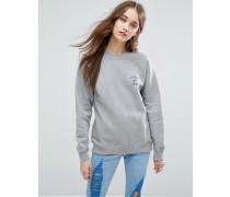 Rose Isoli Besticktes Sweatshirt Grau