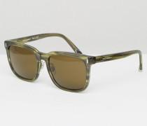 Eckige Sonnenbrille Grün