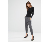 Hose mit geschnürter Taille Grau