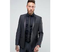 Enge Anzugjacke in Tonic und Schwarz Schwarz