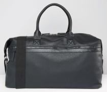 Reisetasche mit Reißverschlusstasche vorne Schwarz