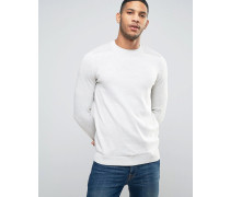 Pullover mit Aufnäher in Oatmeal Cremeweiß