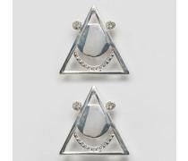 Schuhclips mit Schmucksteinen Silber