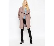 Mantel mit Oversized-Stehkragen Rosa