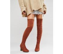 KADE Overknee-Stiefel mit Absatz Braun