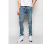 Form Superenge Jeans mit Stretch in Hellblau Blau