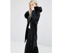 Pyjama-Mantel mit Kapuze Schwarz