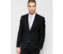 Schmale Anzugjacke mit Stretch in Schwarz Schwarz