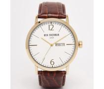 Portobello Uhr aus braunem Leder Braun