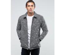Sportliche Jacke aus Wollmischung in Grau meliert Schwarz