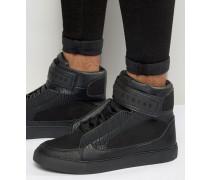 Bronx Knöchelhohe Sneaker Schwarz