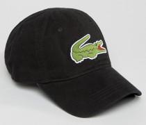Schwarze Baseball-Kappe mit großem Logo Schwarz