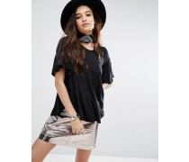 Hänger-T-Shirt aus Jersey Schwarz