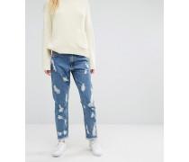 Zerschlissene Denim-Jeans Blau